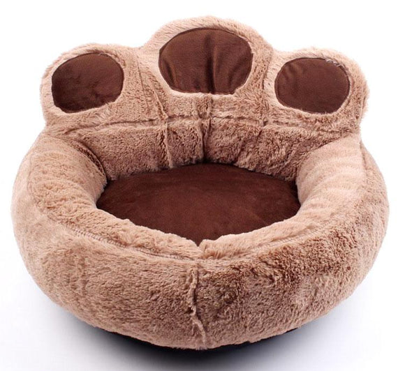 Giant Paw Cat Bed - Coffee