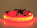 LED Dog Cat Lead Collar - Orange