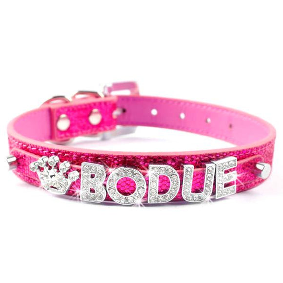 Personalised Dog Name Collar - Pink
