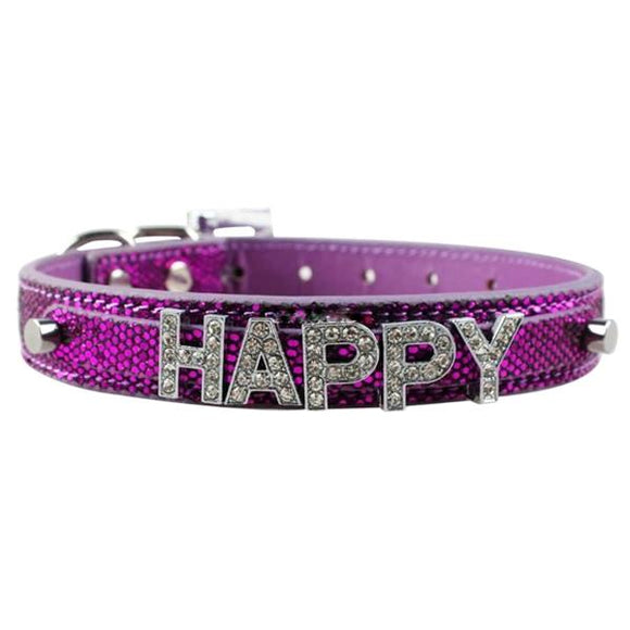 Personalised Dog Name Collar - Purple