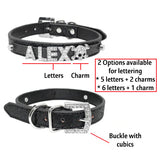 Personalised Cat Name Collar - Black