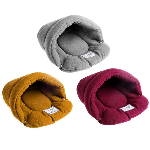 Soft Velvet Shell Pet Cat Dog Bed (3 colours)