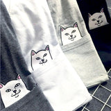 Cat In The Pocket Shirt (5 colours)