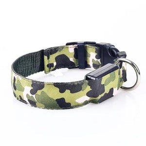 Camouflage Pattern LED Collar - Green