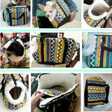 Travelling Zigzag Shoulder Bag for Dogs (2 sizes)