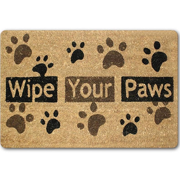 Wipe Your Paws Indoor Outdoor Doormat (3 sizes)