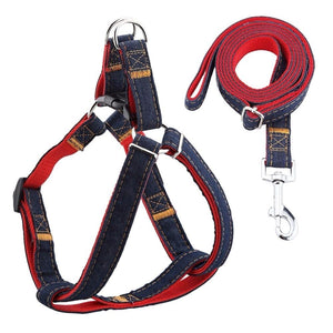 Denim Style Harness Lead for Puppy and Dogs (2 colours)