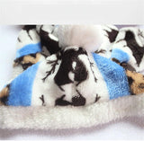 Winter Snowflake Fleece Dog Jumper - Grey