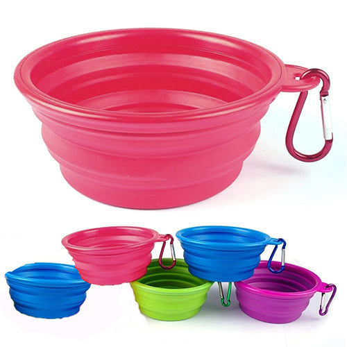 Foldable Silicone Pet Travel Feeding Bowl