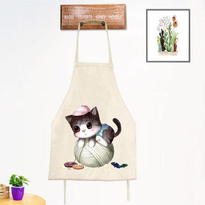 Cat on a Thread Ball Apron - (2 sizes for child/adult)