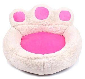 Giant Paw Cat Bed - White