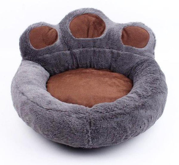 Giant Paw Cat Bed - Grey