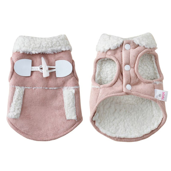 Fleece Dog Winter Jacket - Blush Pink