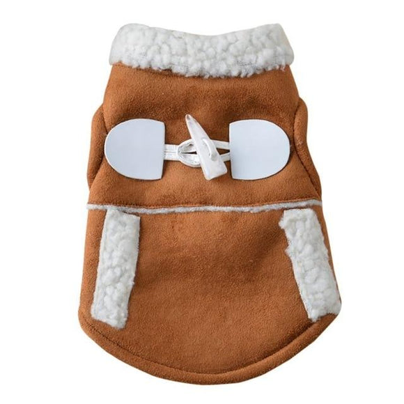 Fleece Dog Winter Jacket - Caramel