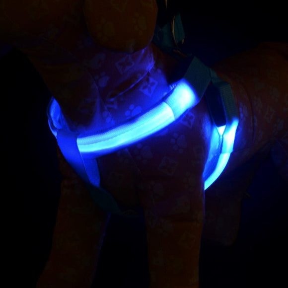 LED Dog Harness - Blue