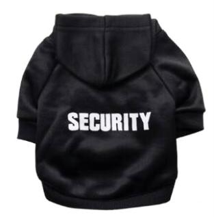 Security Lettering Cat Hoodie Clothes (2 colours)