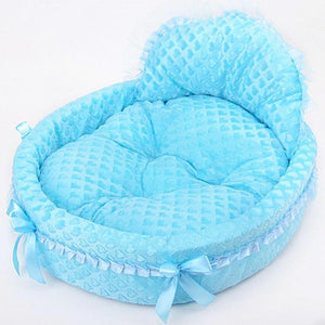 Ribbon Dog Dreamy Basket Kennel - Blue