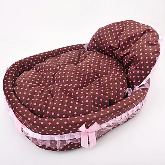 Ribbon Dog Dreamy Basket Kennel - Brown