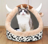 Lovely Cat Dog Bed - Yellow