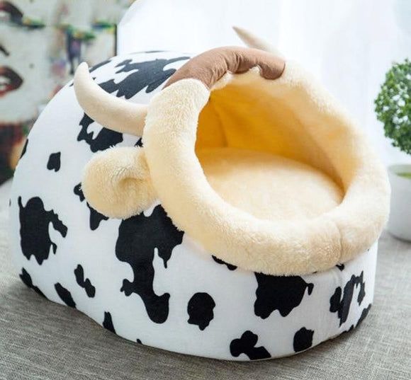 Lovely Cat Dog Bed - White