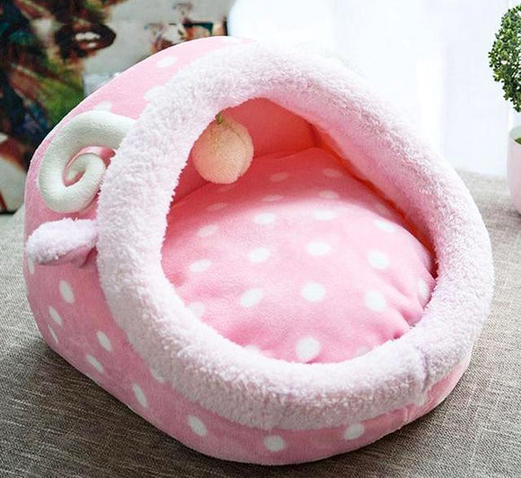 Lovely Cat Dog Bed - Pink