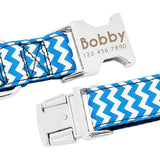 Customised Zigzag Dog Engraved Name Collar (3 colours)