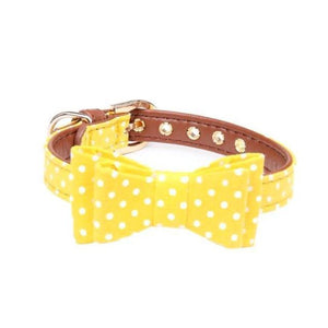 Yellow Polka Dot Bow Tie Collar (3 sizes)