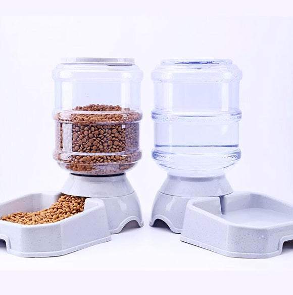 3.8L Pet Automatic Feeder Dispenser for Water and Dry Food