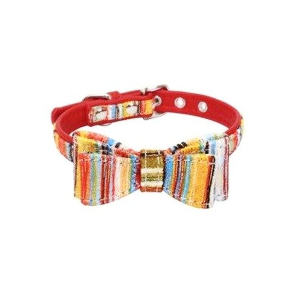 Crayon Pet Double Bow Tie - Red