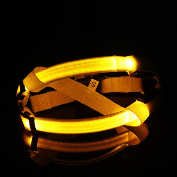 LED Dog Harness - Yellow