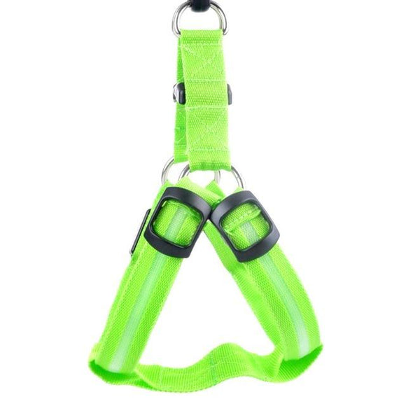 LED Dog Harness - Green