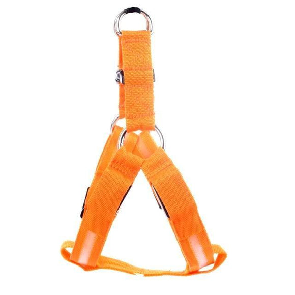 LED Dog Harness - Orange