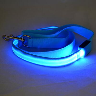 LED Dog Cat Lead Leash - Blue