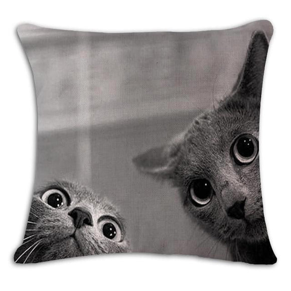Investigating Cat Duo Cushion Cover