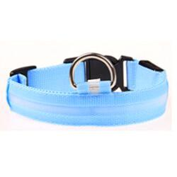 LED Dog Cat Lead Collar - Blue
