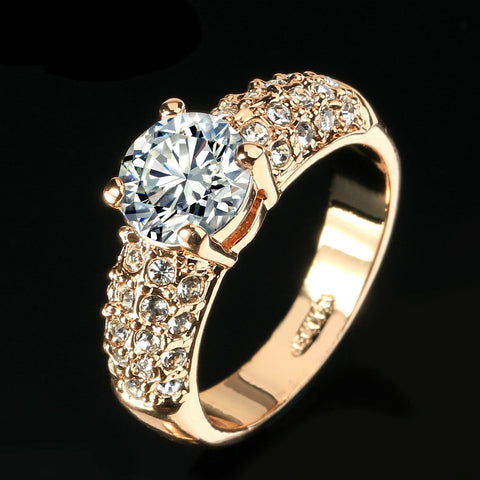 "Image of ""My Queen"" Rose Gold Ring"