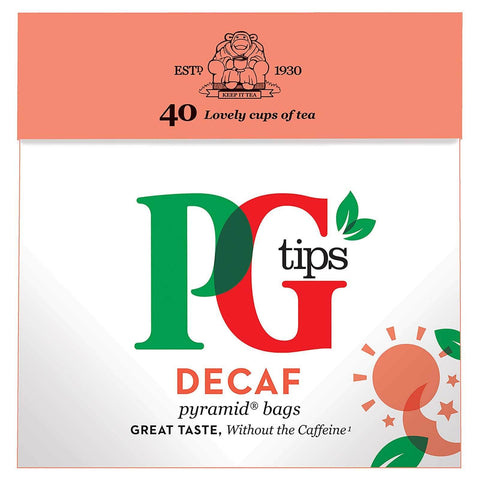PG Tips Decaf Pyramid Tea Bags (Pack of 40 Teabags) 116g