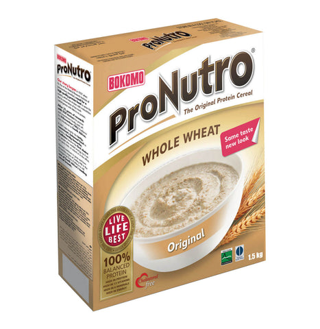 Bokomo ProNutro Whole Wheat Cereal (Kosher) 500g