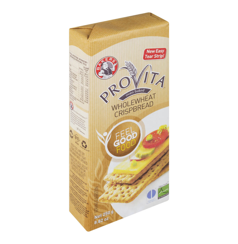 Bakers (Pyotts) Provita Whole Wheat Crispbread (Kosher) 250g