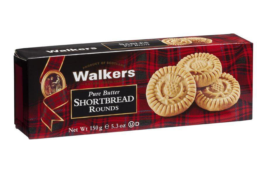 Walkers Pure Butter Shortbread Rounds 150g