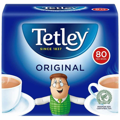 Tetley Original Tea Bags (Pack of 80 Round Teabags) 250g