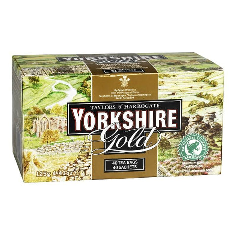 Yorkshire Tea - Gold (Pack of 40 tea Bags) 125g
