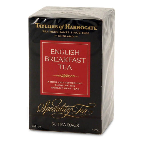 Taylors of Harrogate English Breakfast Tea Bags (Pack of 50) 125g
