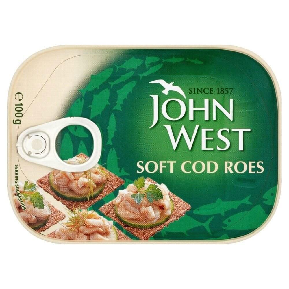 John West Cod Roes - Soft 100g