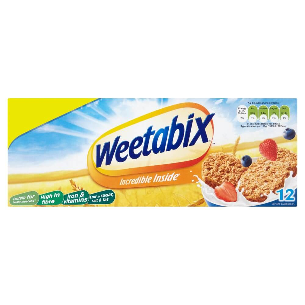 Weetabix Wholegrain Cereal Biscuits (Pack of 12) 215g
