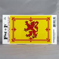 "British Brands Decal - Scotland Lion Flag 5"" x 3.25"" 10g"