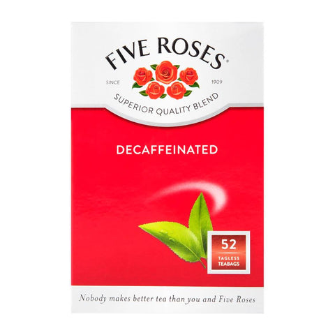 Five Roses Tea - Decaf Tea Bags (Pack of 50 Bags) 125g