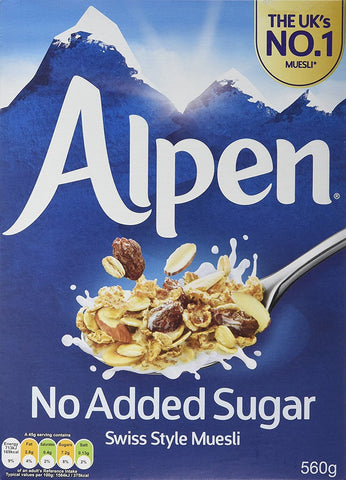 Alpen Muesli - No Added Sugar 560g
