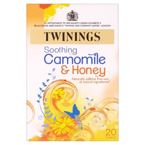 Twinings Tea - Chamomile and Honey (Pack of 20 Tea Bags) 30g