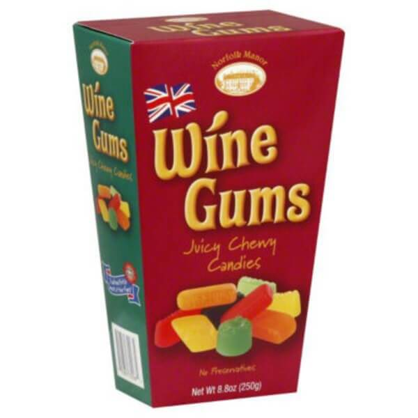 Norfolk Manor Wine Gums Box 250g